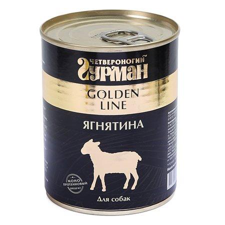 Корм для собак Четвероногий Гурман Golden ягненок натуральный в желе 340г