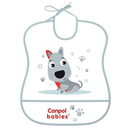 Нагрудник Canpol Babies Собачка Голубой 250989455
