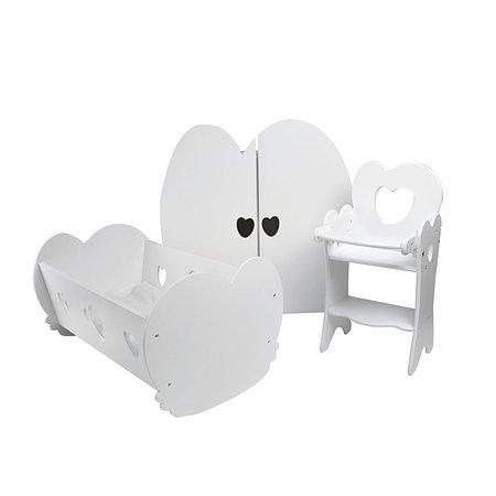 Мебель для кукол PAREMO Набор 3предмета Белый PFD120-24