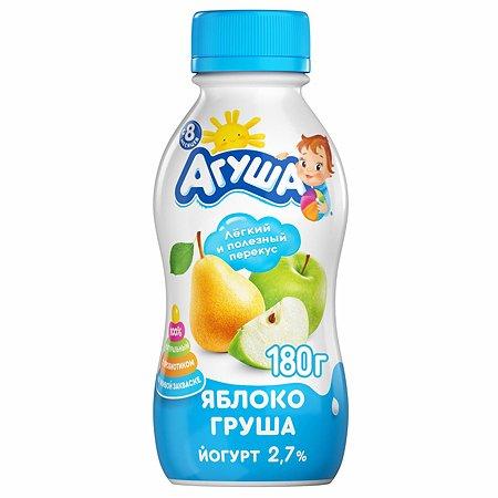 Йогурт питьевой Агуша 2.7% яблоко-груша 180г с 8месяцев