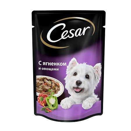 Корм для собак Cesar с ягненком и овощами пауч 100г