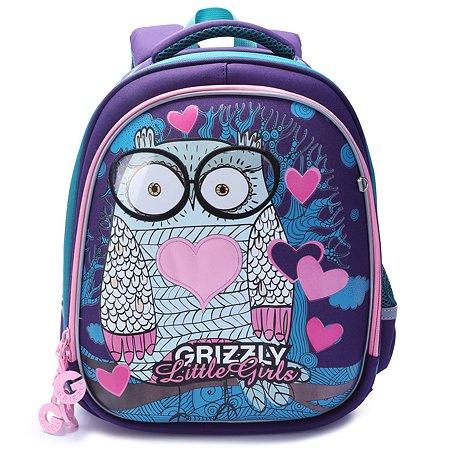 Рюкзак школьный Grizzly Совушка Фиолетовый RA-979-2/1