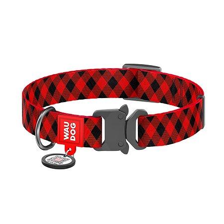 Ошейник для собак Waudog Nylon Шотландка крупный Красный 5087
