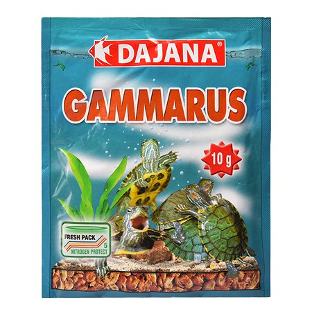Корм для рыб и рептилий DAJANA гаммарус 80мл DP201S