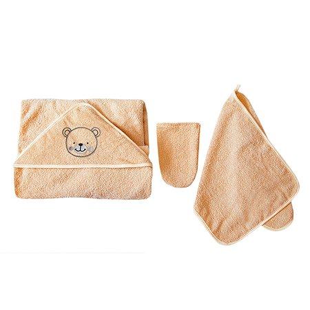 Комплект для купания Baby Nice 3предмета Персиковый К32415