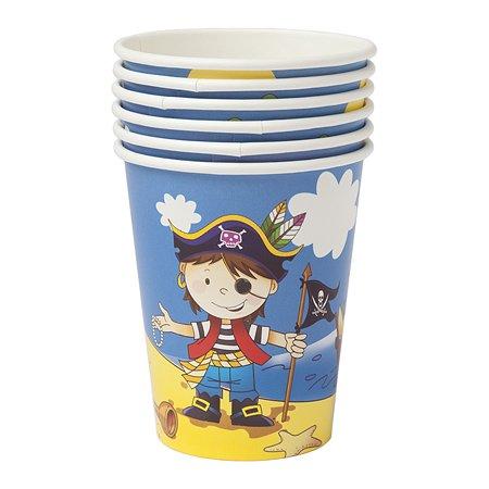 Стакан GCI Маленький пират 250мл 6шт 1502-1292(1294) в ассортименте