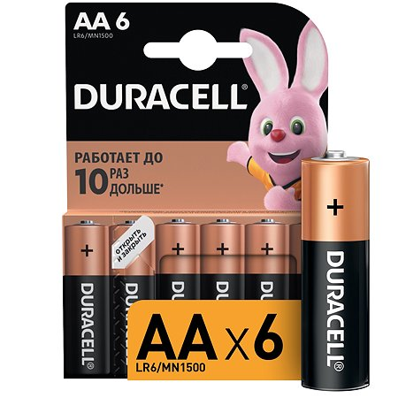 Батарейки Duracell Basic АА/LR6 6шт