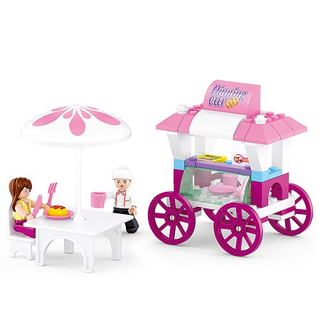 Конструктор SLUBAN Розовая мечта Кафе на колесах