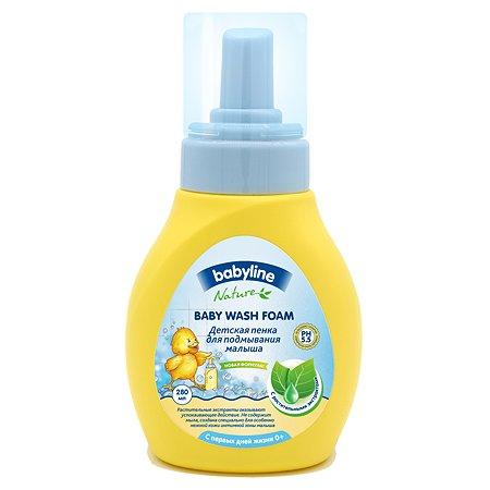 Пенка для подмывания малыша Babyline с растительными экстрактами с дозатором 250мл+30мл