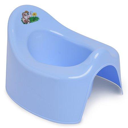 Горшок детский Полимербыт туалетный Голубой