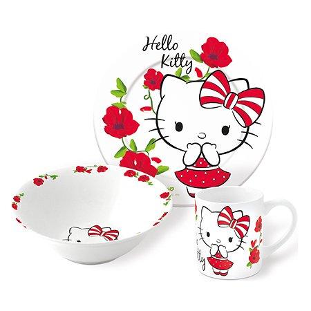 Набор керамической посуды STOR в подарочной упаковке Snack Set Hello Kitty Poema (3 шт.)