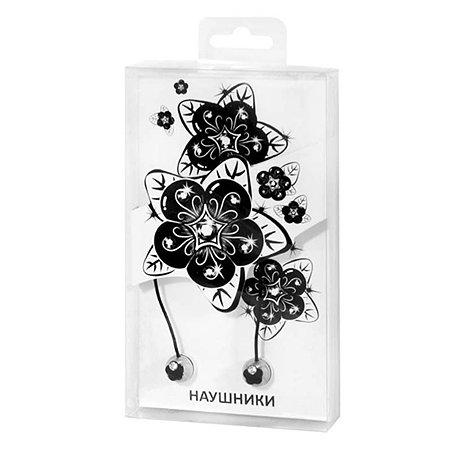 Наушники Mobile Цветок (черные)