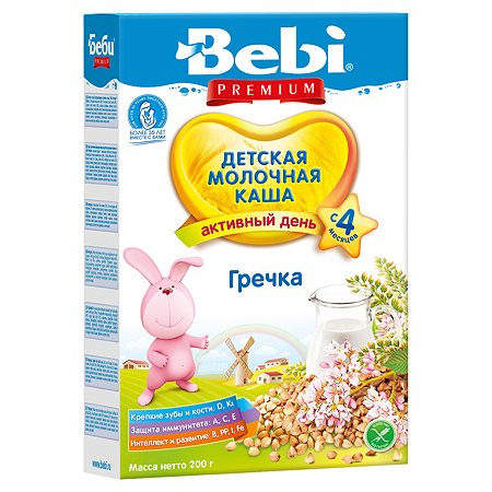 Каша Bebi Premium молочная гречка 200г с 4месяцев