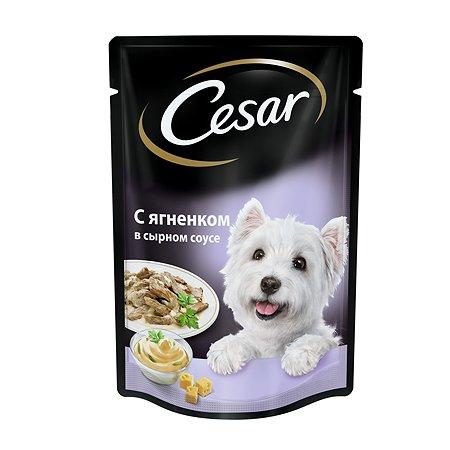 Корм для собак Cesar с ягненком в сырном соусе пауч 100г