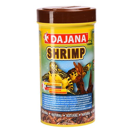 Корм для рептилий DAJANA сушеные креветки 250мл DP208B
