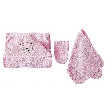 Комплект для купания Baby Nice 3предмета Розовый К32415