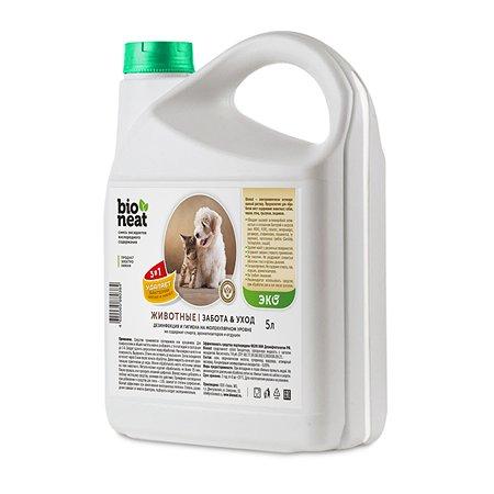 Дезинфицирующее средство Bioneat Для обработки мест содержания животных Ликвидатор запаха 5 л Bioneat