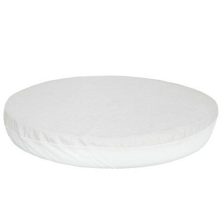 Наматрасник для круглой кроватки Baby Nice Белый MC7521WH