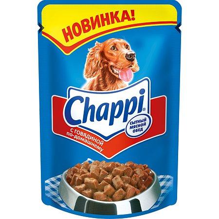 Корм для собак Chappi говядина по домашнему пауч 100г