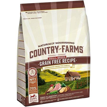 Корм для щенков Country Farms с индейкой 2.5кг