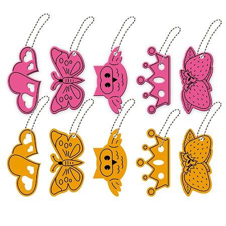 Брелок светоотражающий B&H Различные формы с цепочкой-шариками для девочек в ассортименте