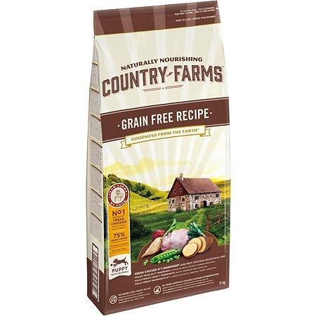 Корм для щенков Country Farms Grain Free с курицей 11кг