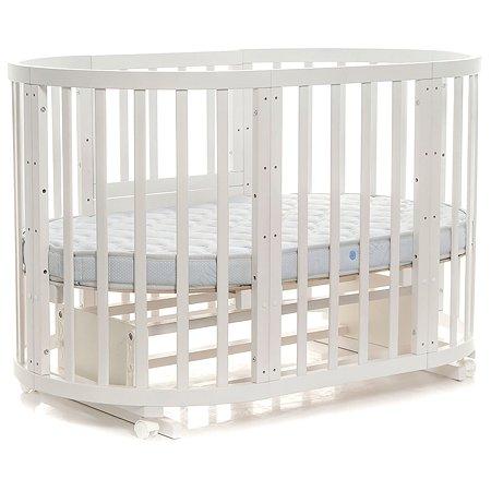 Кроватка-трансформер Noony Cozy круглая Белый