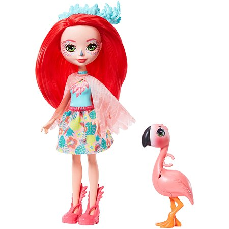 Набор Enchantimals кукла Фэнси Флэминг и Свош GFN42