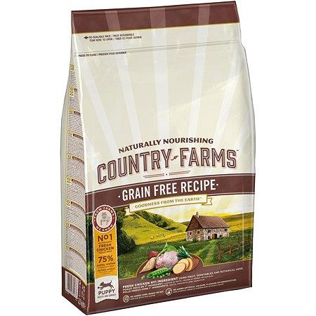Корм для щенков Country Farms Grain Free с курицей 2.5кг