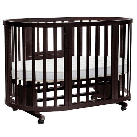 Кроватка-трансформер Noony Cozy круглая Венге