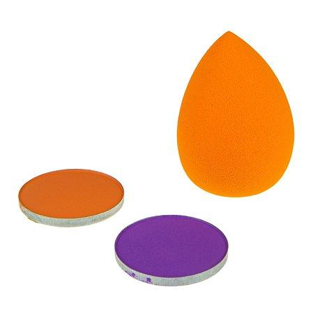 Пудра для волос Lukky(LUCKY) со спонжем Оранжевый-Фиолетовый Т16155