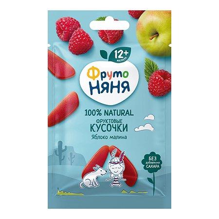 Кусочки фруктовые ФрутоНяня из яблок и малины 15г с 12месяцев