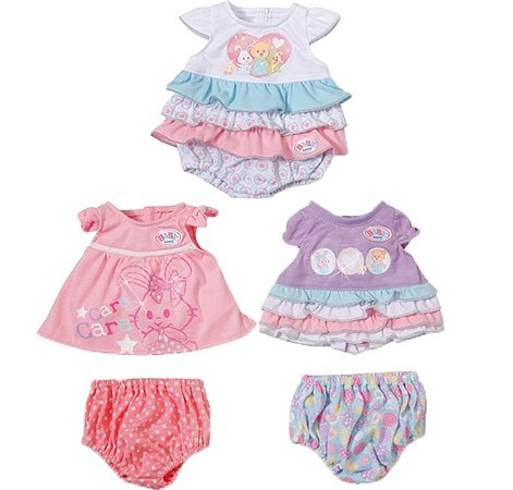 Короткие платьица Zapf Creation для куклы Baby Born в ассортименте