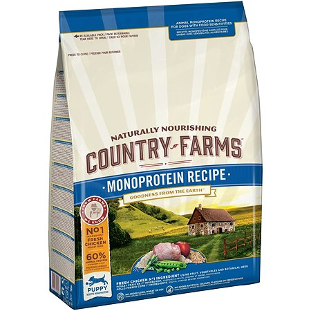 Корм для щенков Country Farms Monoprotein с курицей 2.5кг