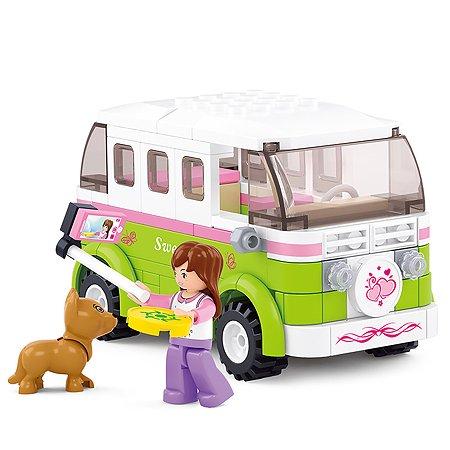 Конструктор SLUBAN Розовая мечта Фургон (M38-B0523)