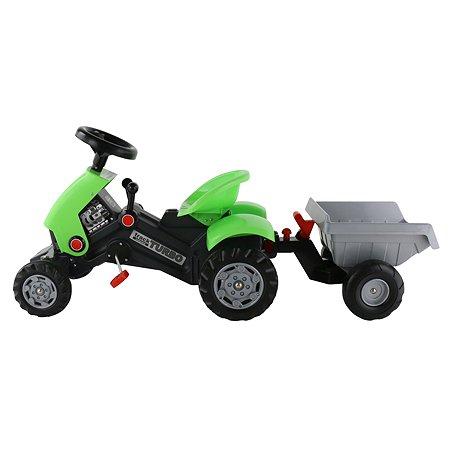 Каталка-трактор Полесье с педалями Turbo-2 с полуприцепом