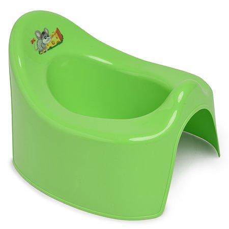 Горшок детский Полимербыт туалетный Зелёный