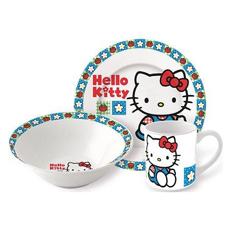 Набор керамической посуды STOR в подарочной упаковке Snack Set Hello Kitty Tomato 1 (3 шт.)