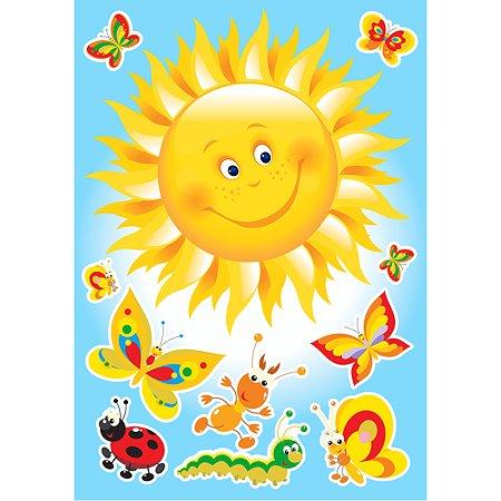 Интерьерный стикер Decoretto Лоскутное солнышко