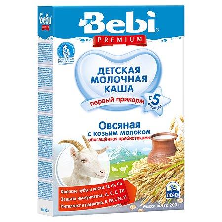 Каша Bebi Premium на козьем молоке  овсяная 200г с 5 месяцев