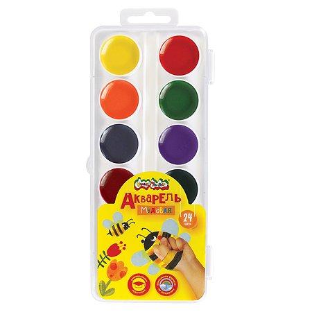Акварель Каляка-Маляка круглая 24 цвета