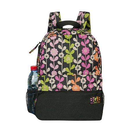 Рюкзак Grizzly Цветы Чёрно/розовый