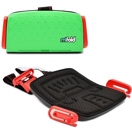 Бустер Mifold автомобильный the Grab-and-Go Booster seat/Lime Green зеленый