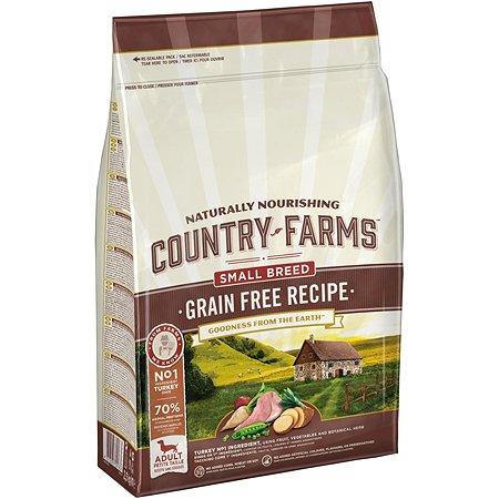 Корм для собак Country Farms Grain Free c индейкой 2.5кг
