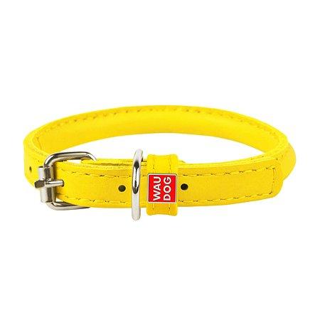 Ошейник для собак Waudog Glamour круглый малый Желтый 22408