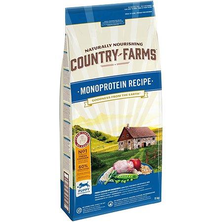 Корм для щенков Country Farms Monoprotein с курицей 11кг