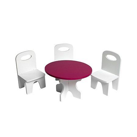 Мебель для кукол PAREMO Классика набор 4предмета Белый-ягодный PFD120-39