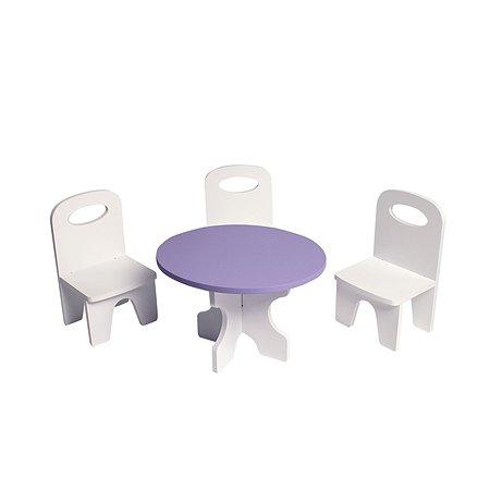 Мебель для кукол PAREMO Классика набор 4предмета Белый-фиолетовый PFD120-40