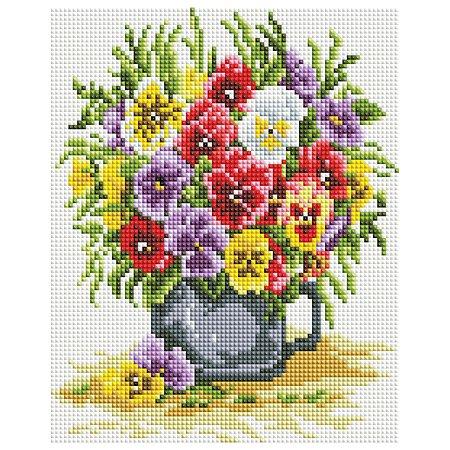 Мозаика алмазная Белоснежка Цветочное счастье 419-ST-PS