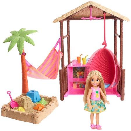 Набор игровой Barbie Челси в хижине Тики FWV24